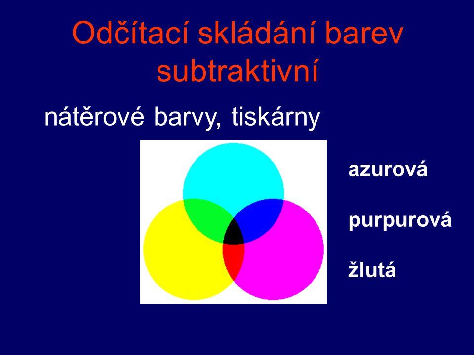 Odčítací skládání barev subtraktivní nátěrové barvy, tiskárny azurová purpurová žlutá