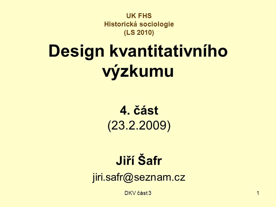 DKV část 31 Design kvantitativního výzkumu 4.