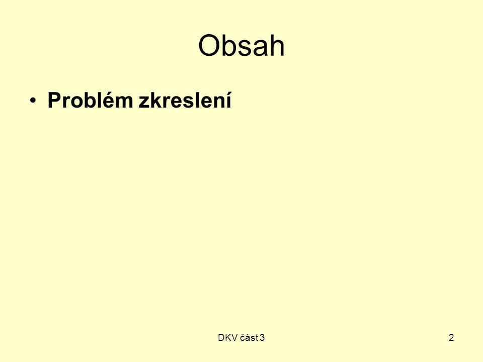 DKV část 32 Obsah Problém zkreslení