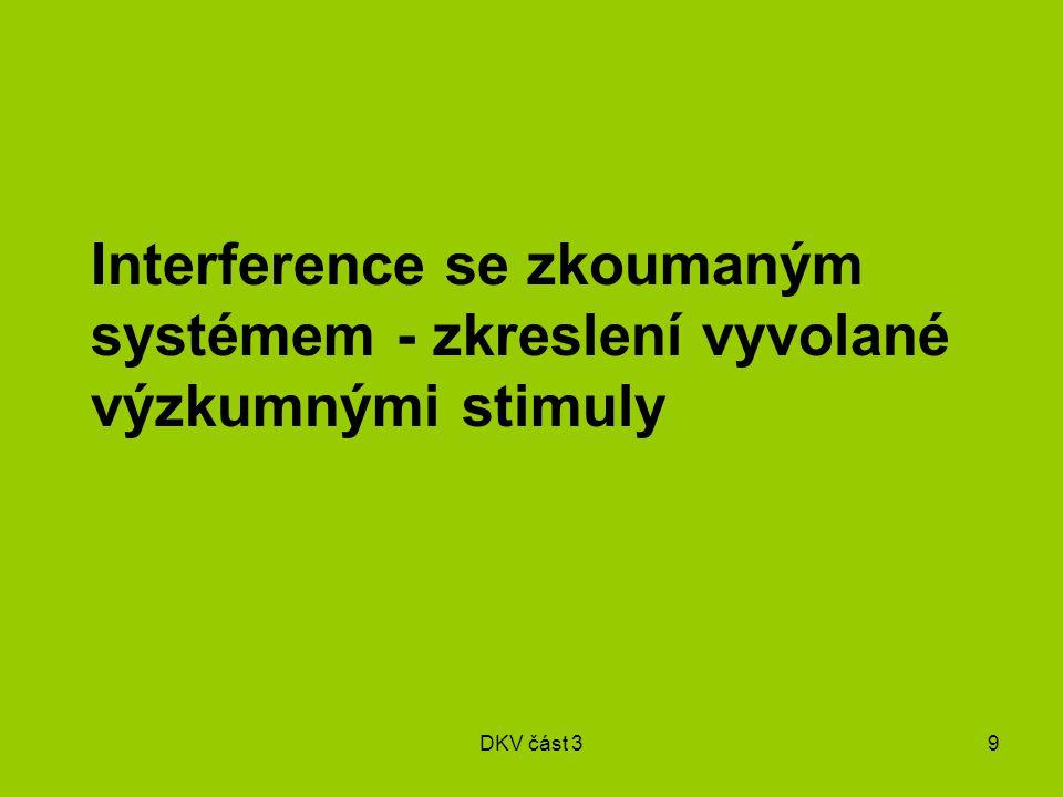 DKV část 39 Interference se zkoumaným systémem - zkreslení vyvolané výzkumnými stimuly