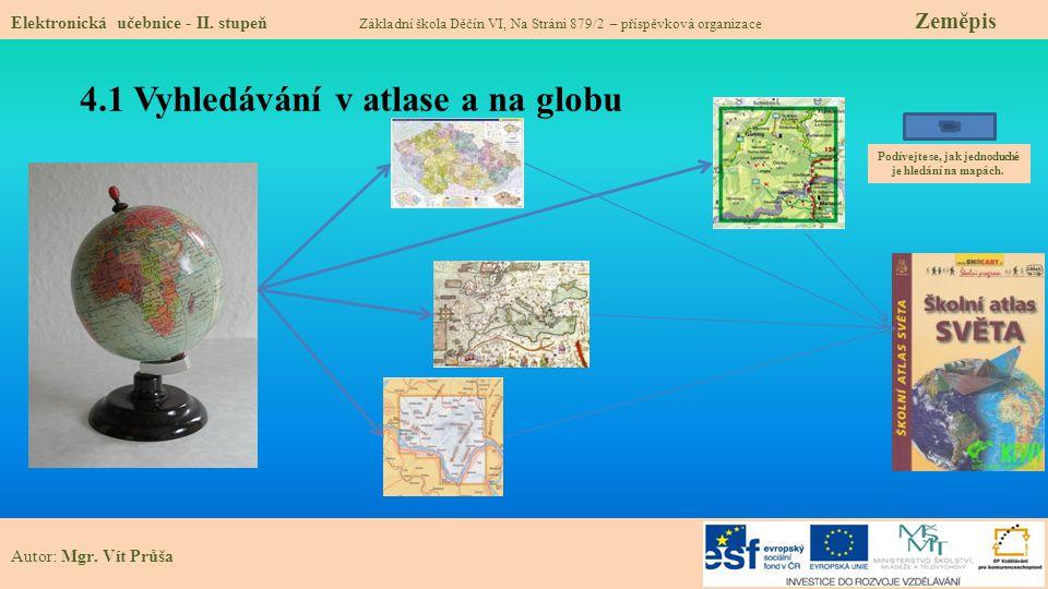 4.2 Co již víme mapách, atlasech a globu.Elektronická učebnice - II.