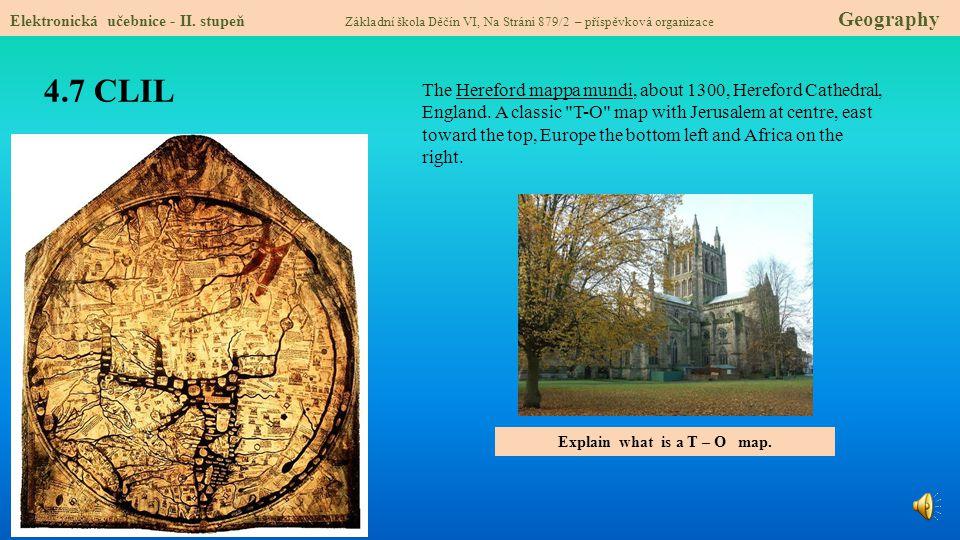 4.8 Test znalostí Správné odpovědi: 1.Globus je: a/ zmenšený obraz Země v ploše b/ zmenšená mapa velkého měřítka c/ zmenšený model Země d/ přístroj na zjišťování světových stran 3.Konkrétní místo v atlase můžeme najít: a/ v obsahu atlasu b/ v legendě mapy c/ podle měřítka mapy d/ v rejstříku atlasu 2.