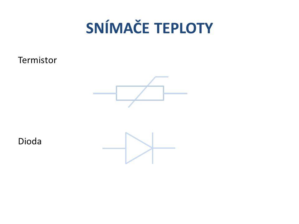 SNÍMAČE TEPLOTY Tranzistor Dioda na čipu