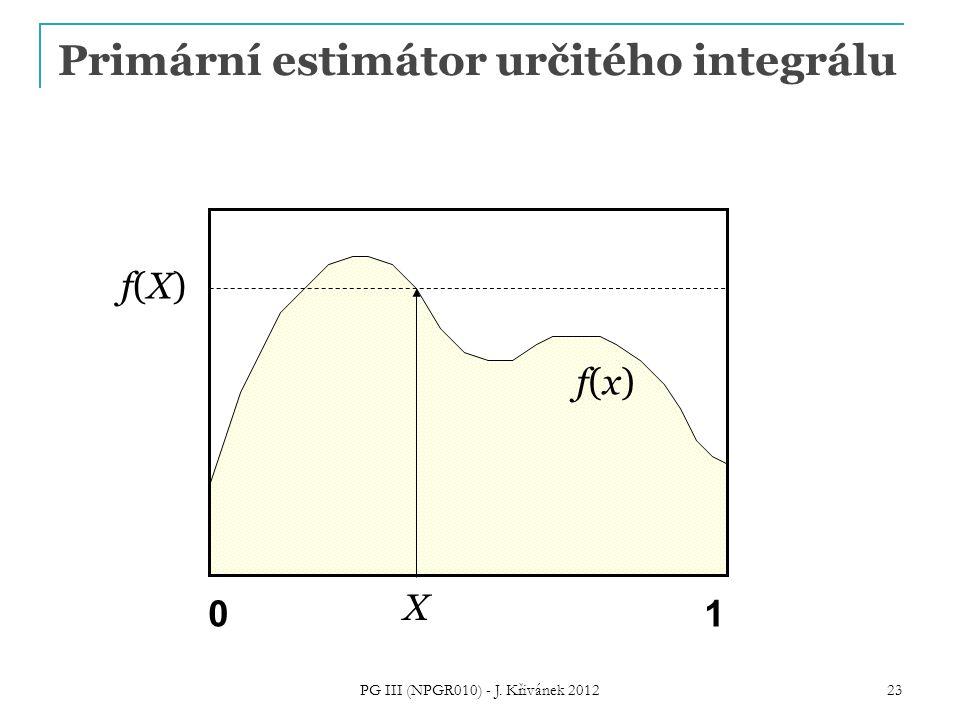 X f(x)f(x) f(X) f(X) 01 PG III (NPGR010) - J. Křivánek 2012 23