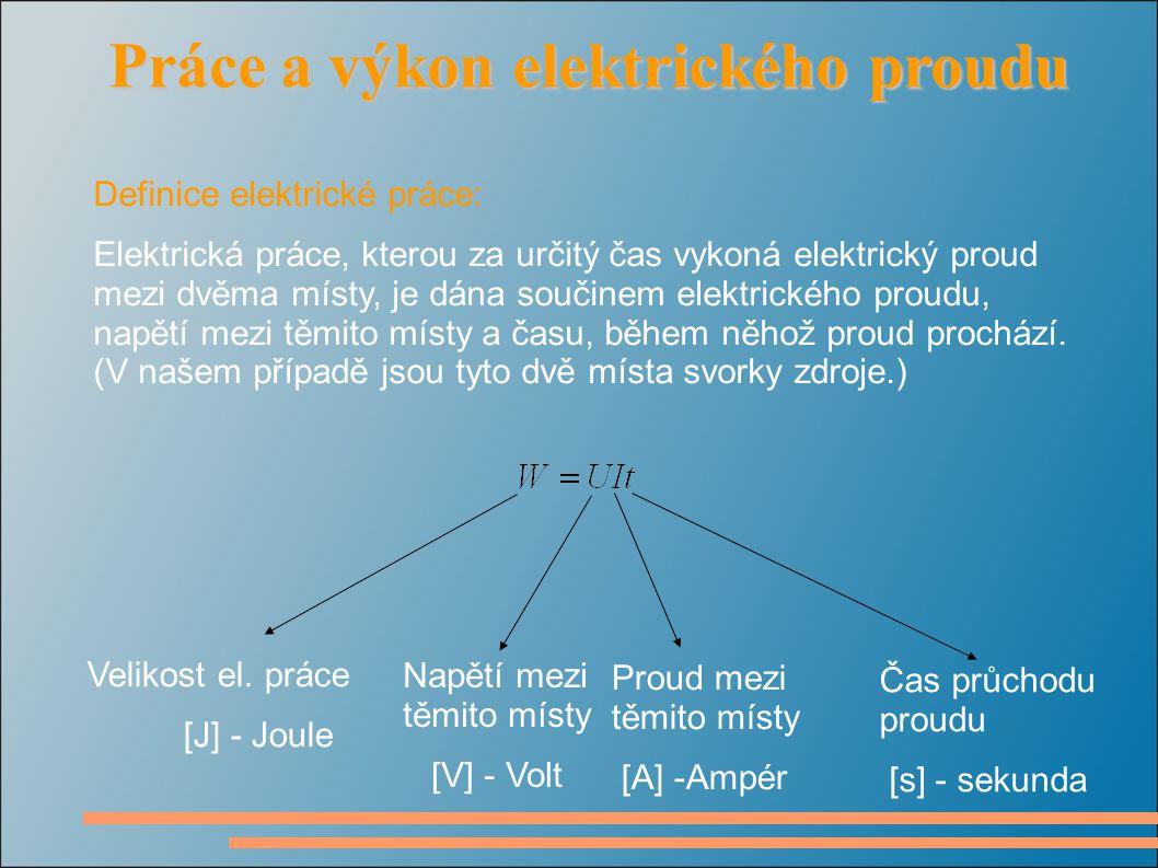Příklad č.1: Mezi svorkami elektrického spotřebiče je napětí 24 V.