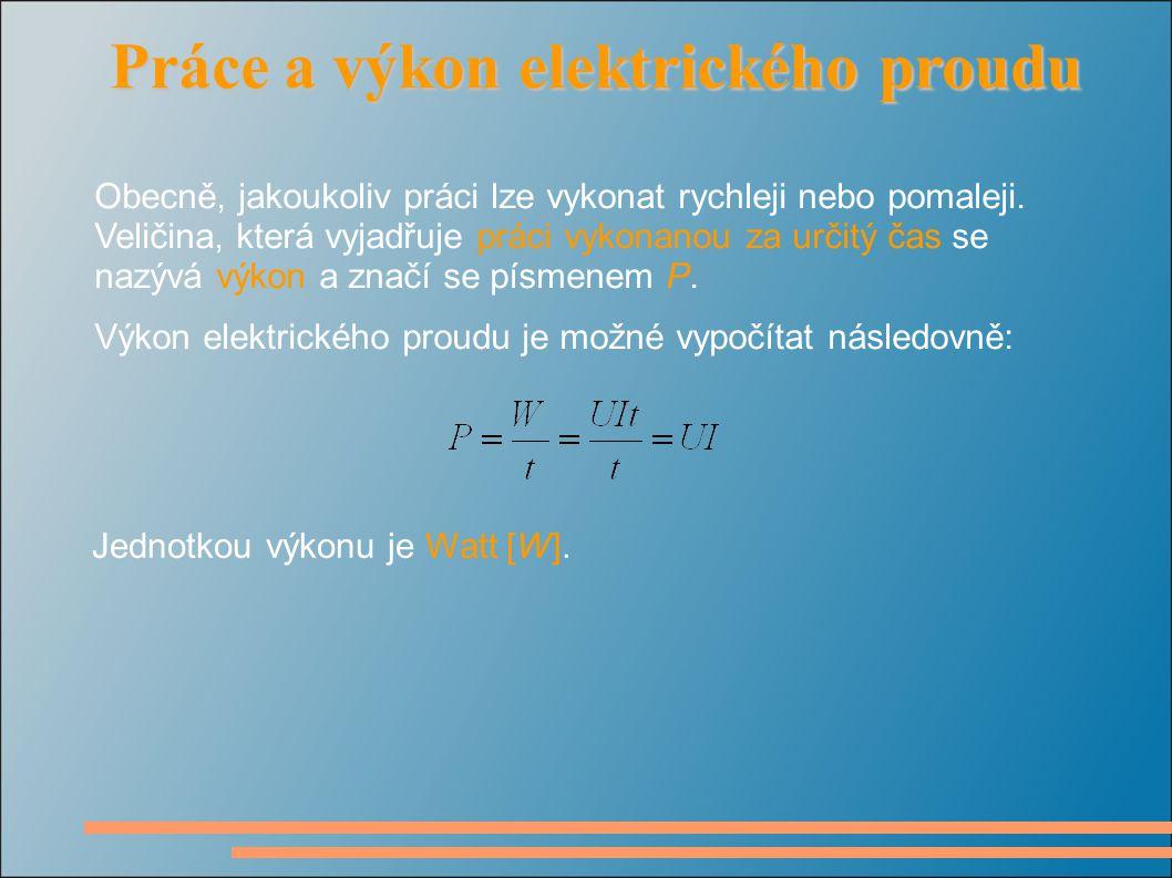 Příklad č.2: Mezi svorkami elektrického spotřebiče je napětí 12 V.
