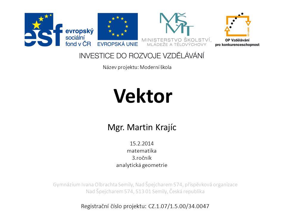 Vektor – použitá literatura Použitá literatura: KOČANDRLE, Milan a Leo BOČEK.