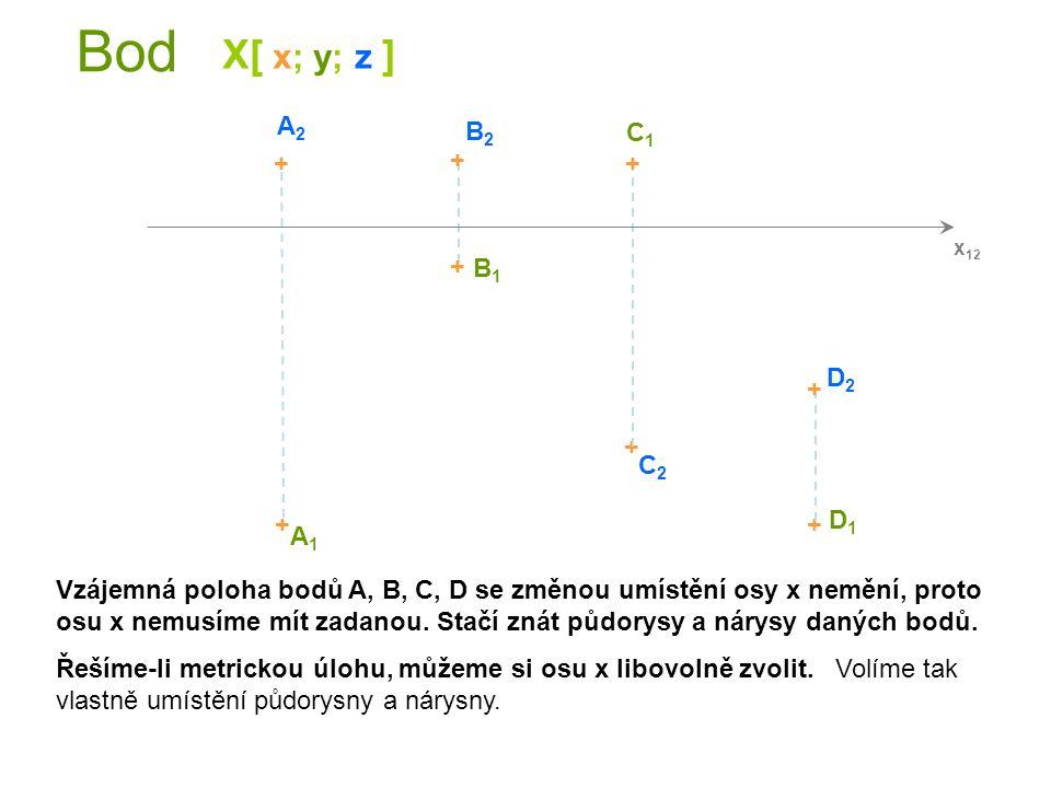 Bod B - II.kvadrant z y X 1,2 D IV [ 8;3;-1 ] + + + + + A1A1 B1B1 C1C1 A2A2 B2B2 + C2C2 + D1D1 D2D2 A - I.kvadrant C - III.kvadrant D - IV.kvadrant A