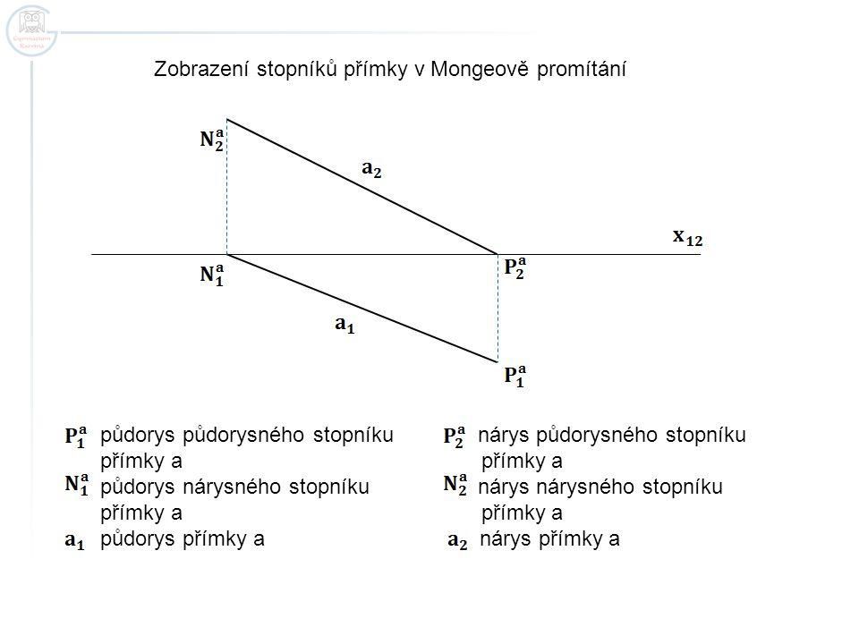 půdorys půdorysného stopníku nárys půdorysného stopníku přímky a přímky a půdorys nárysného stopníku nárys nárysného stopníku přímky a přímky a půdory