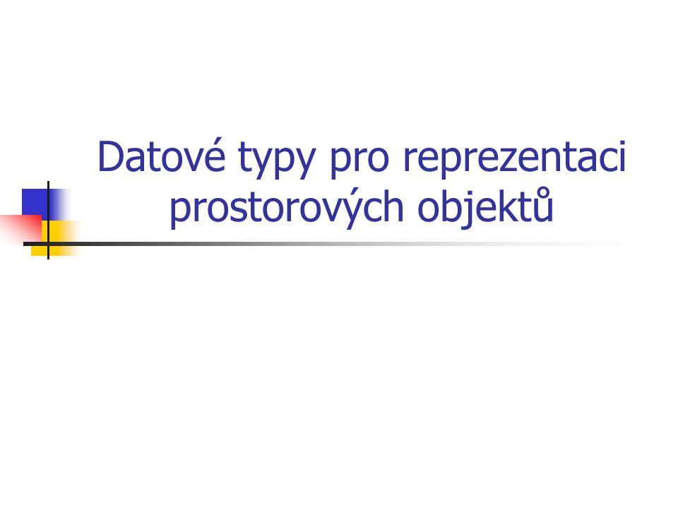 Datové typy pro reprezentaci prostorových objektů