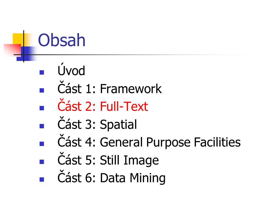Dělení SQL/MM Spatial Standard SQL/MM Spatial je rozdělěn do několika klauzulí Jednotlivé klauzule se zabývají: Prostorovými datovými typy a jejich metodami (Spatial types) Datovým katalogem (Information Schema) …