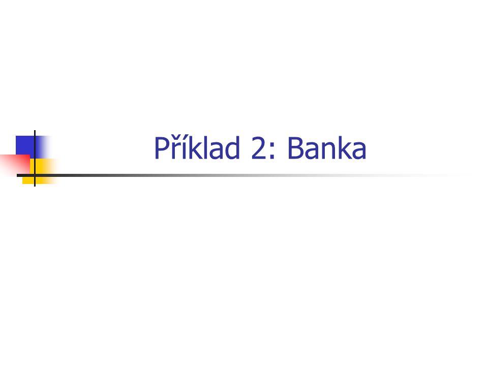Příklad 2: Banka