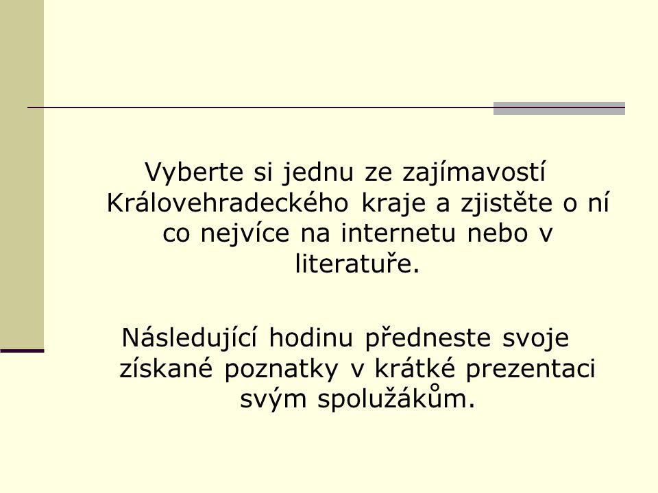 Test znalostí 1.Jaká řeka protéká Hradcem Králové.