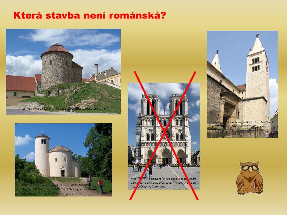 Která stavba není románská.