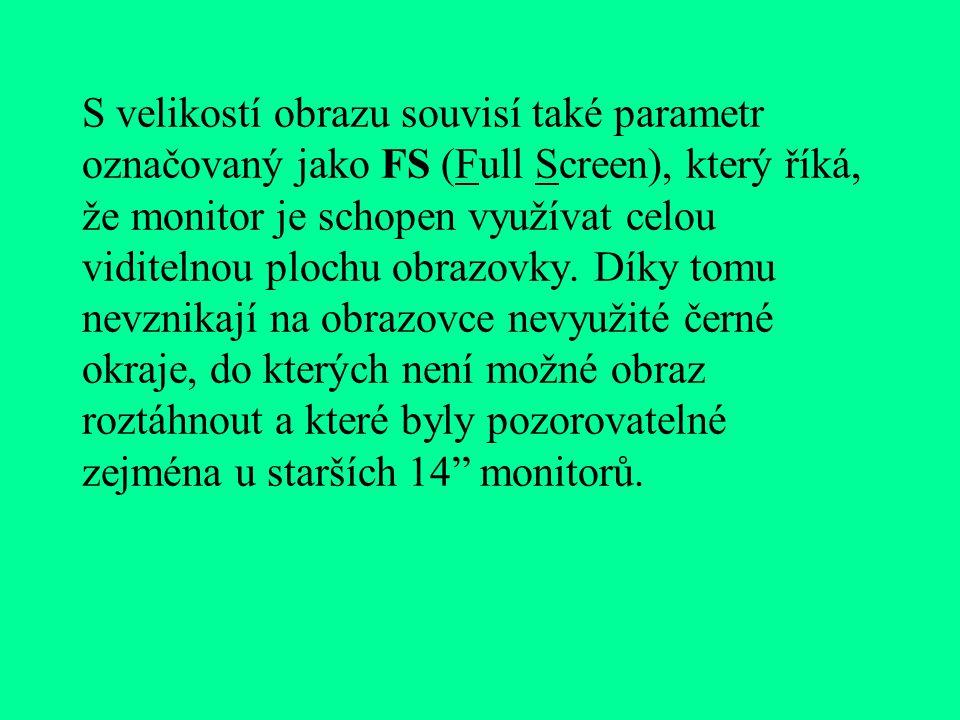 """Běžně používané velikosti obrazovek u počítačů jsou: 14"""", 15"""": monitory určené hlavně pro zpracování informací v textovém režimu V grafickém režimu js"""