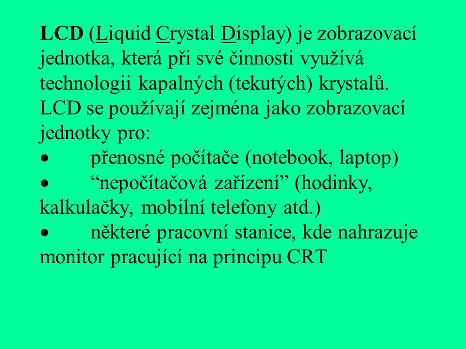LCD DISPLEJE