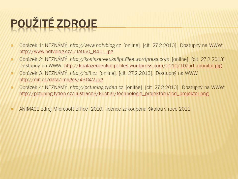  Obrázek 1: NEZNÁMÝ. http://www.hdtvblog.cz [online].