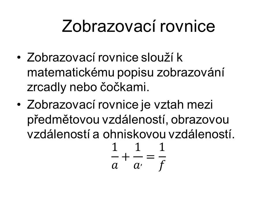 Zobrazovací rovnice