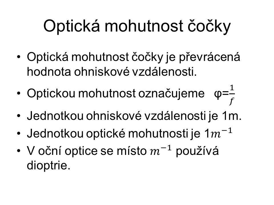 Optická mohutnost čočky