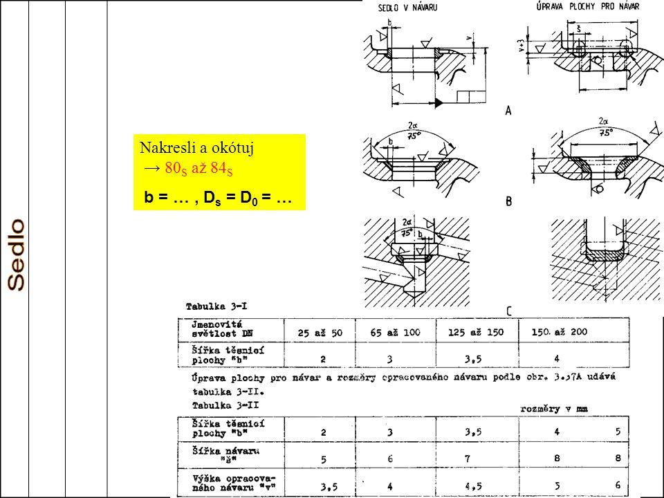 Nakresli a okótuj → 80 S až 84 S b = …, D s = D 0 = …