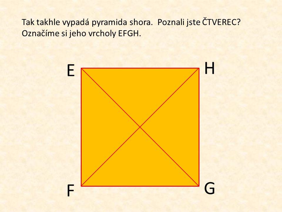 Podíváte-li se na pyramidu shora, např. z letadla, uvidíte geometrický útvar. Tušíte jaký? Poznáte ho? obr. 1