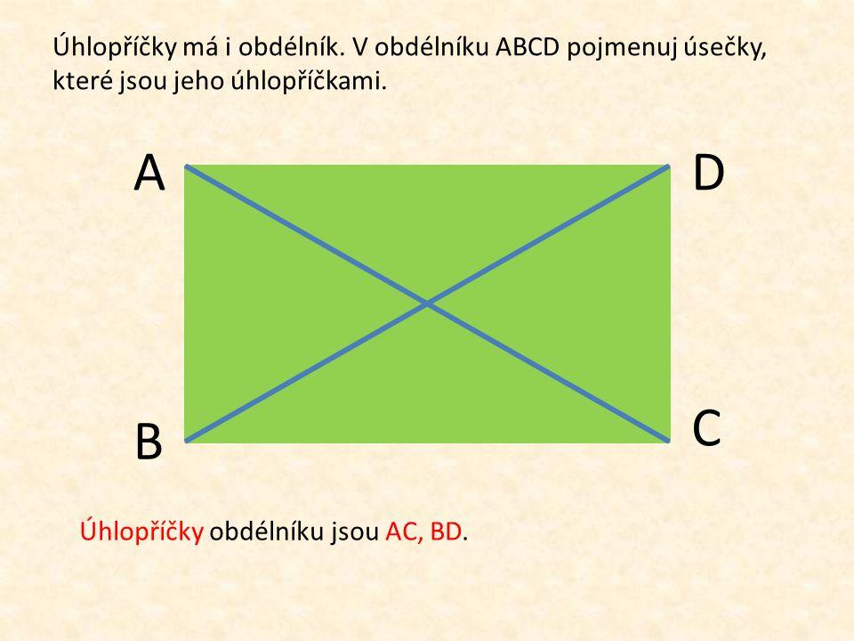 V tomto čtverci EFGH jsou sestrojeny úsečky EG a FH. Tyto úsečky se nazývají E F H G úhlopříčky čtverce