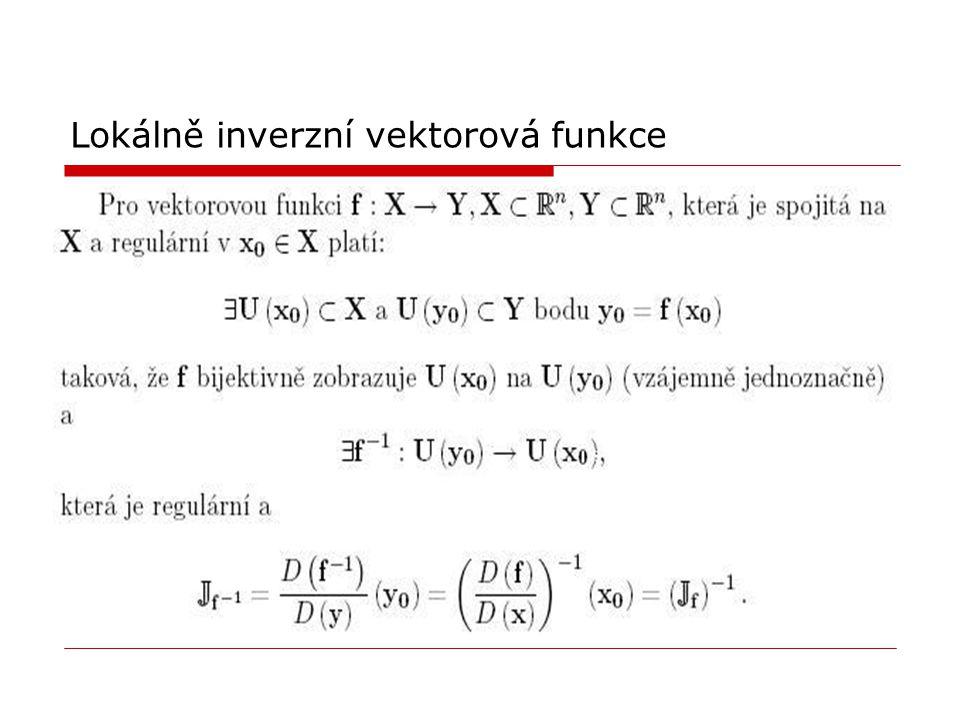 Lokálně inverzní vektorová funkce