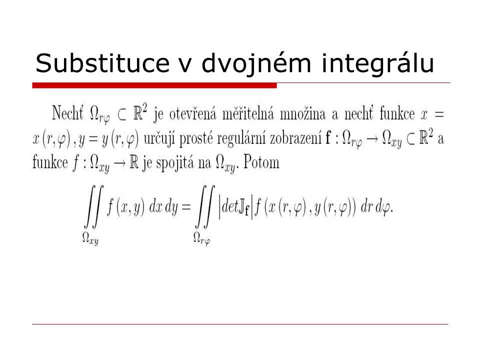 Substituce v dvojném integrálu