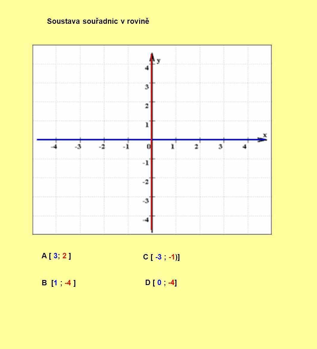 A [ 3; 2 ] B [1 ; -4 ] C [ -3 ; -1)] D [ 0 ; -4]