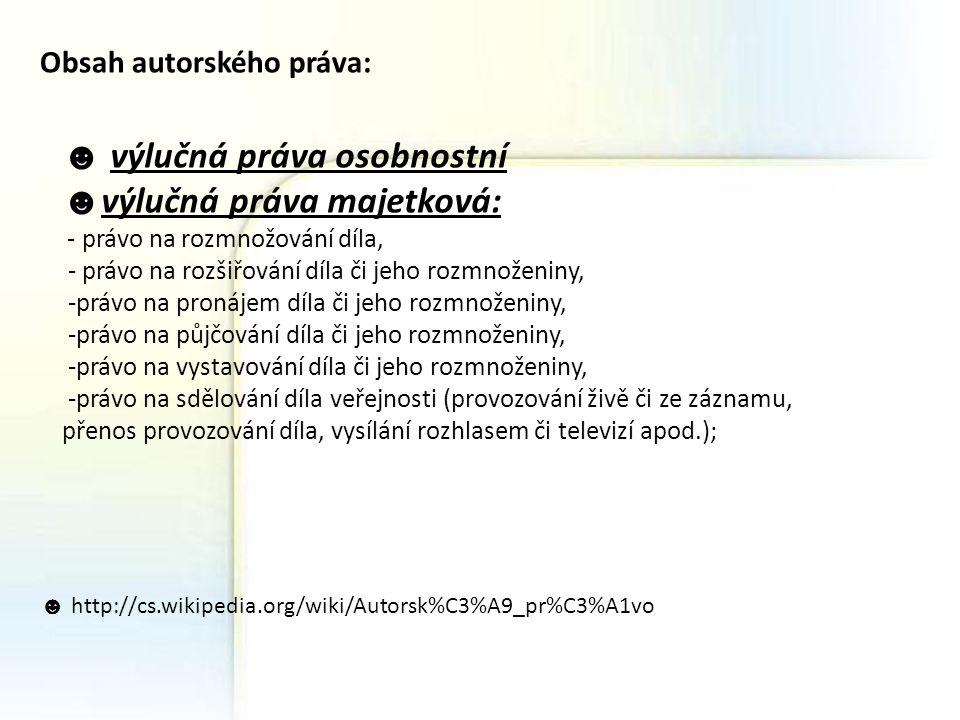 http://cs.wikipedia.org/wiki/Autorsk%C3%A9_pr%C3%A1vo http://is.muni.cz/elportal/estud/ff/js07/informace/materialy/pag es/etika_opora.pdf http://web.sks.cz/users/ku/ZIZ/zdroje.htm Alena polednová,4.A