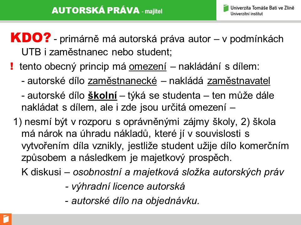 AUTORSKÁ PRÁVA - majitel KDO.