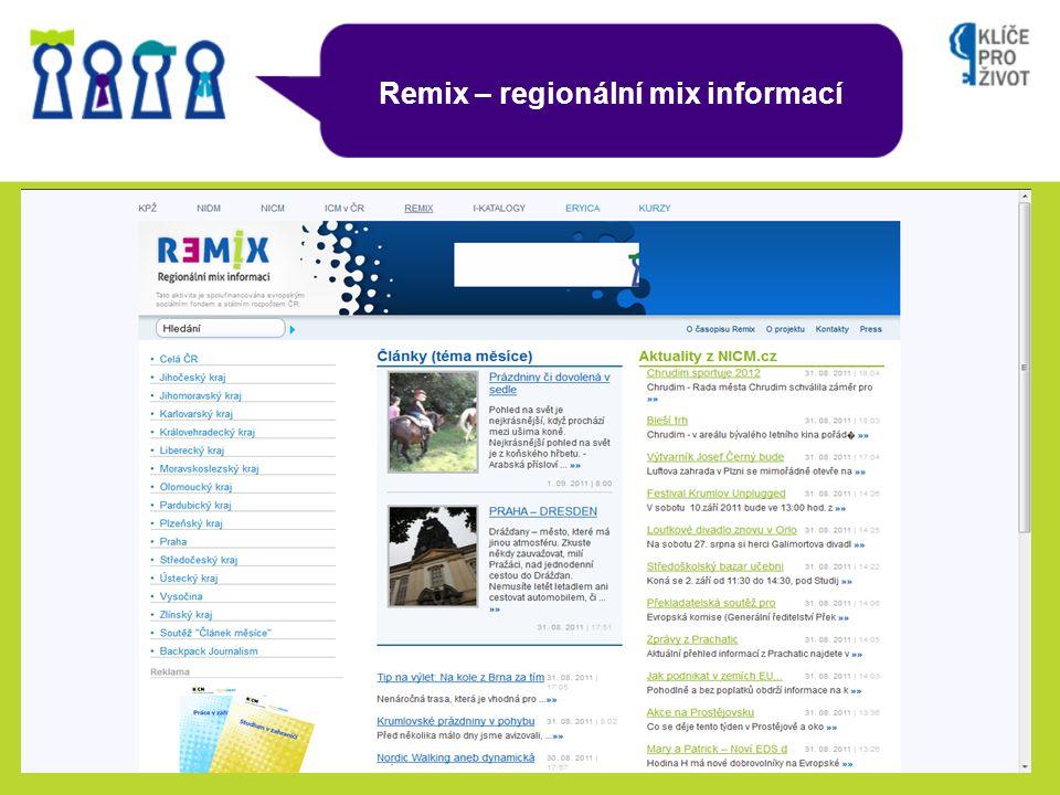 Remix – regionální mix informací
