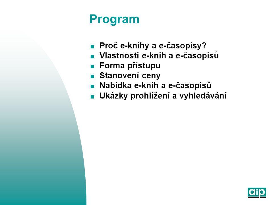 Program  Proč e-knihy a e-časopisy.