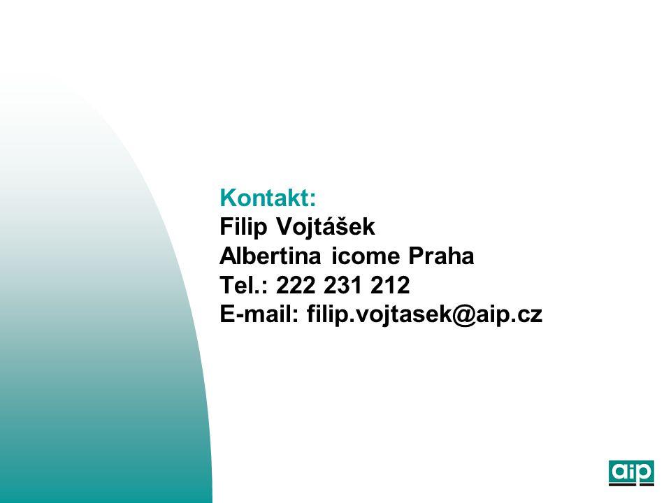 Kontakt: Filip Vojtášek Albertina icome Praha Tel.: 222 231 212 E-mail: filip.vojtasek@aip.cz