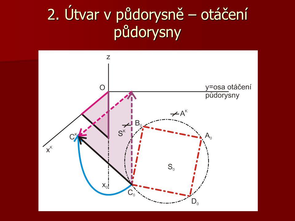 Mezi kosoúhlými průměty bodů v půdorysně a otočenými průměty těchto bodů je afinní vztah.