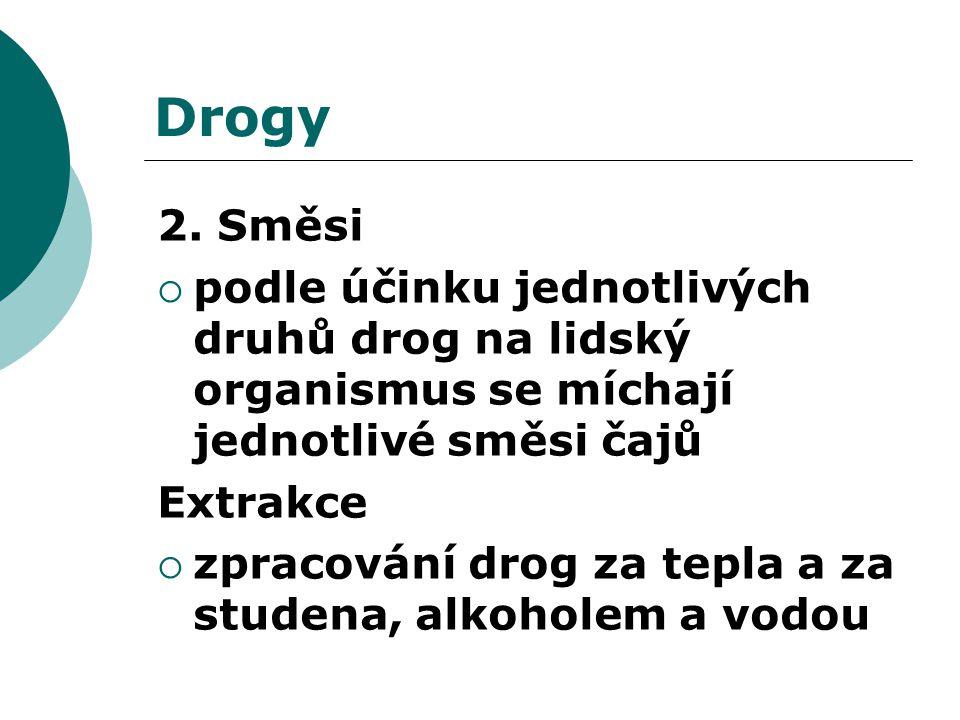 Kontrolní otázky  1.Vyjmenujte způsoby vyluhování drog.