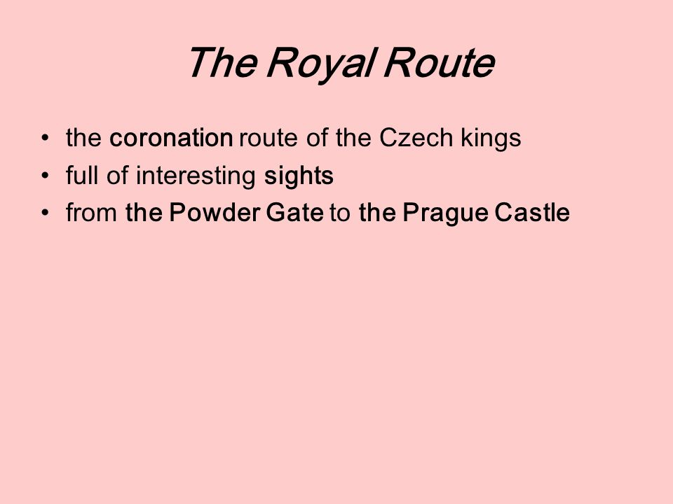 the coronation route of the Czech kings full of interesting sights from the Powder Gate to the Prague Castle