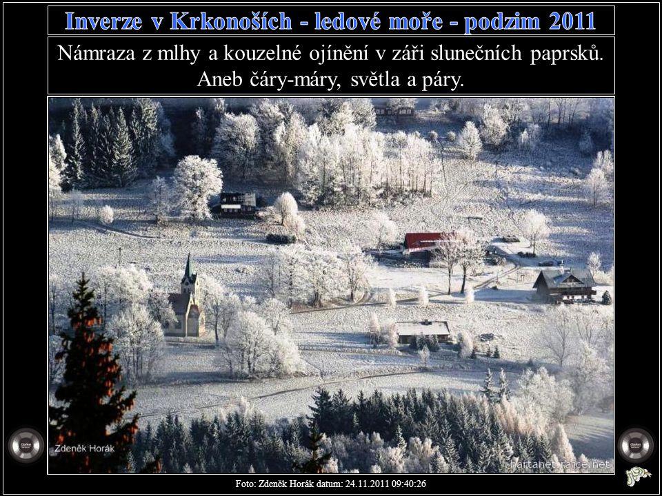 Strážné - pohled od kolonky k hospodě. Foto: Zdeněk Horák datum: 24.11.2011 08:42:30