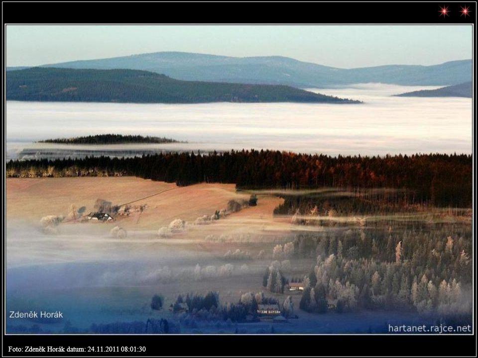 Z Benecka na západ Foto: Zdeněk Horák datum: 24.11.2011 07:59:03
