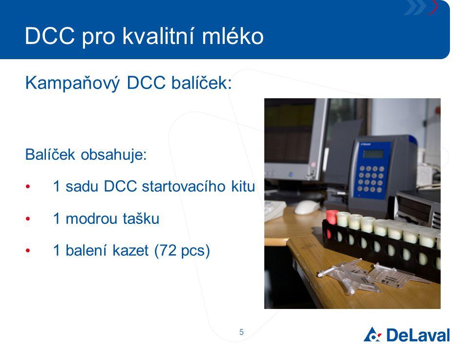 5 DCC pro kvalitní mléko Kampaňový DCC balíček: Balíček obsahuje: 1 sadu DCC startovacího kitu 1 modrou tašku 1 balení kazet (72 pcs)