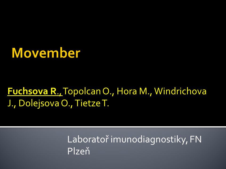 Fuchsova R., Topolcan O., Hora M., Windrichova J., Dolejsova O., Tietze T. Laboratoř imunodiagnostiky, FN Plzeň