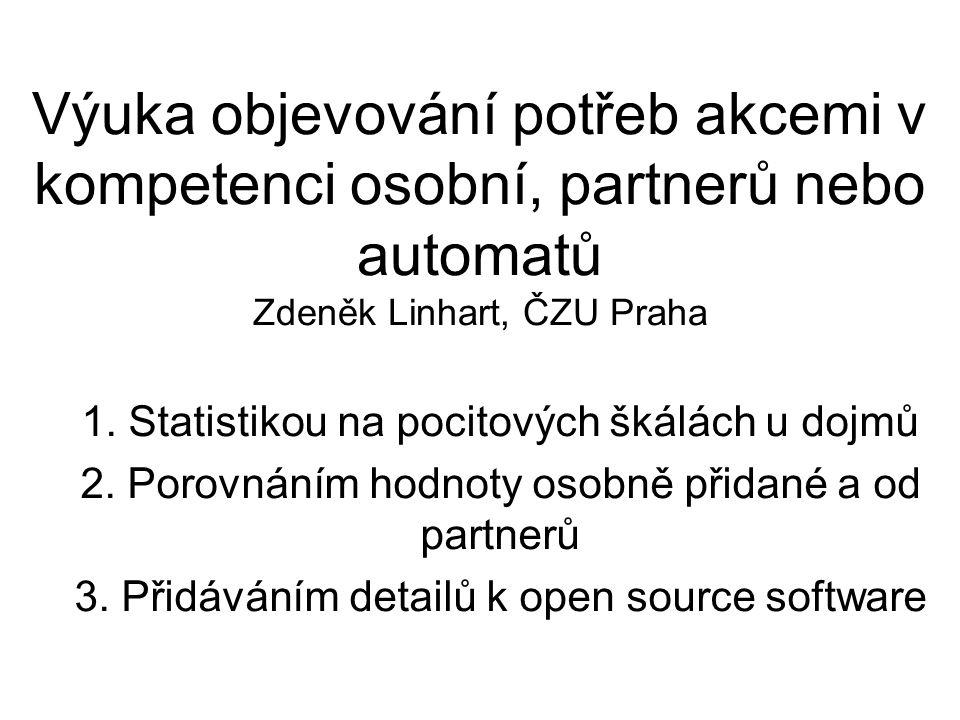 Výuka objevování potřeb akcemi v kompetenci osobní, partnerů nebo automatů Zdeněk Linhart, ČZU Praha 1.