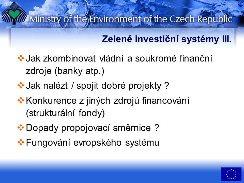 Zelené investiční systémy III.