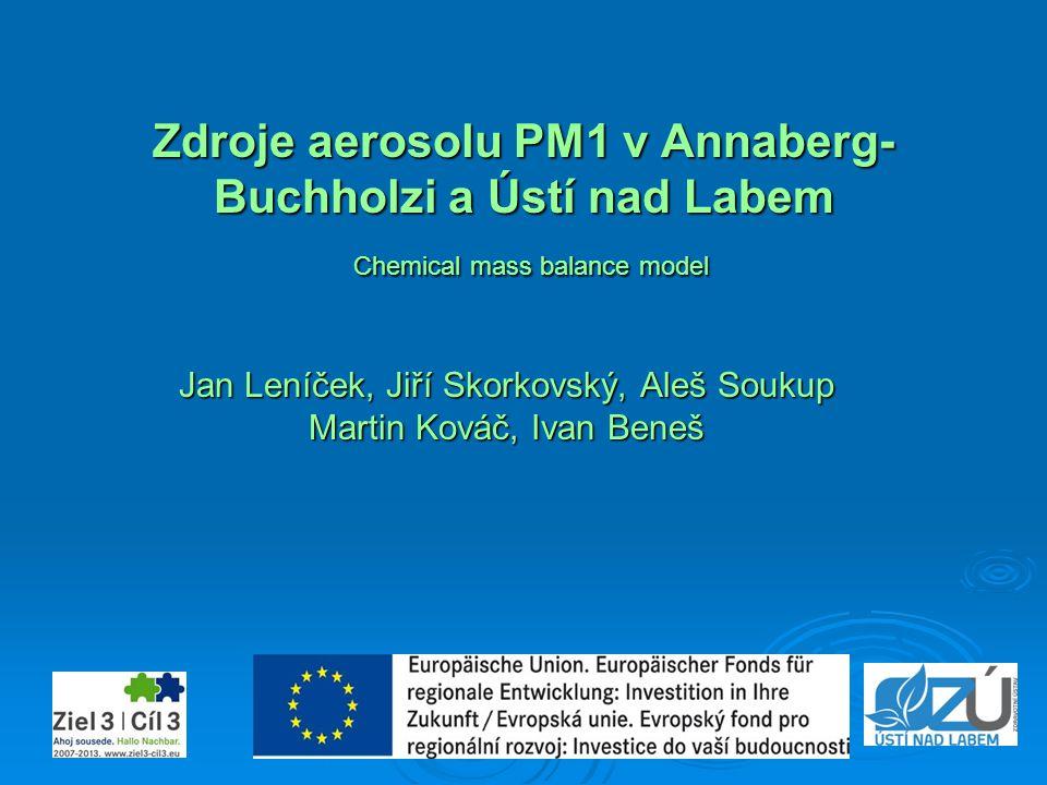Zdroje aerosolu PM1 v Annaberg- Buchholzi a Ústí nad Labem Chemical mass balance model Jan Leníček, Jiří Skorkovský, Aleš Soukup Martin Kováč, Ivan Be