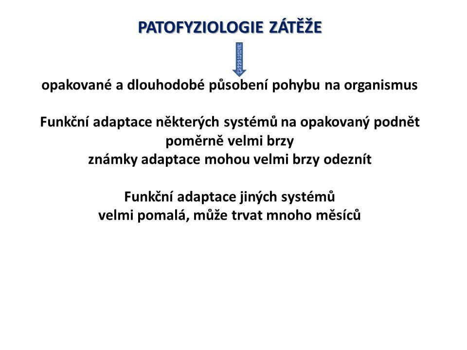 PATOFYZIOLOGIE ZÁTĚŽE Adaptace na dlouhodobé cvičení (sportovní trénink) závisí na Intenzitě zatížení Trvání Frekvenci Druhu PA Genetických faktorech Genetických faktorech (jednovaječná dvojčata podobnější hodnoty VO 2 max než dvojvaječná) Genetické dispozice zodpovědné a 50 – 65 % variací hodnot VO 2 max.