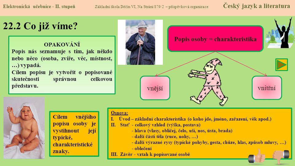 22.3 Jaké si řekneme nové termíny a názvy.Elektronická učebnice - II.