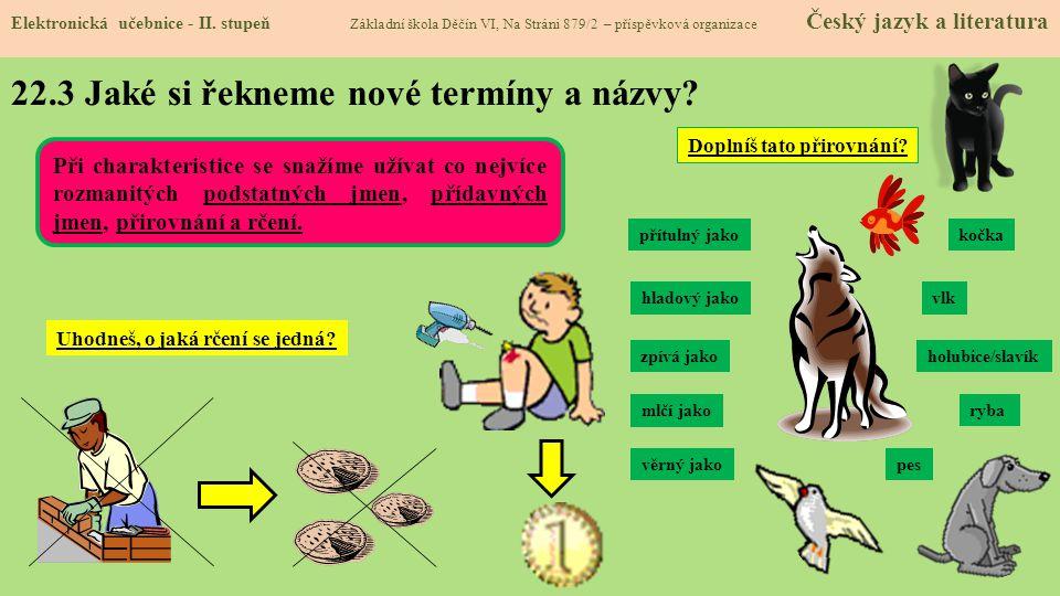 22.4 Co si řekneme nového.Elektronická učebnice - II.