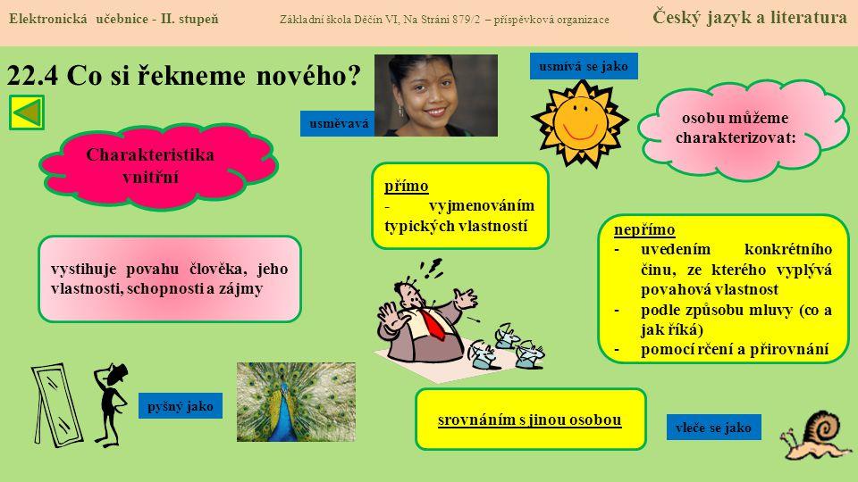 22.5 Procvičení a příklady Elektronická učebnice - II.