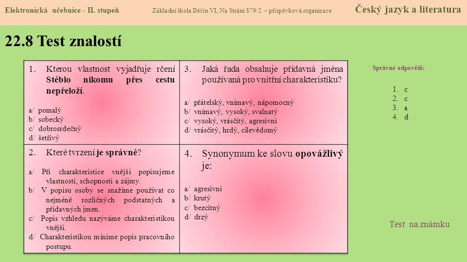 22.9 Použité zdroje, citace Elektronická učebnice - II.