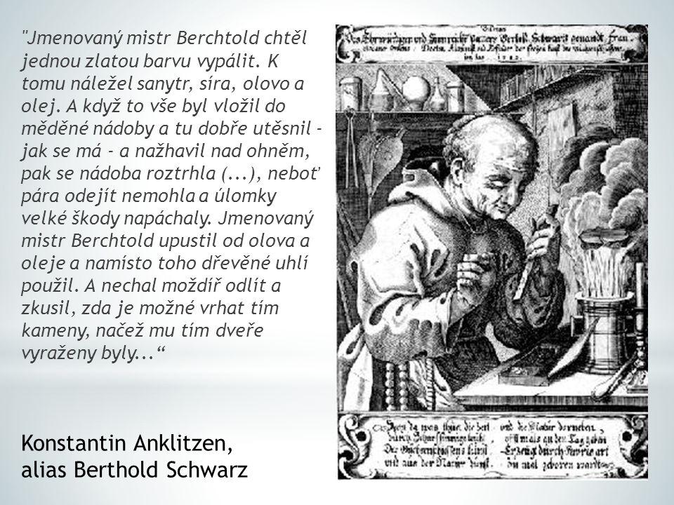 Jmenovaný mistr Berchtold chtěl jednou zlatou barvu vypálit.